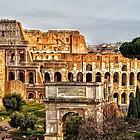 Blick auf das Colosseum in Rom