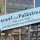Fotocollage Israel mit Klagemauer, Soldaten, zerstörter Bus