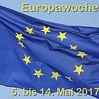 """Europafahne, darüber Schriftzug """"Europawoche - 5. bis 14. Mai 2017"""""""