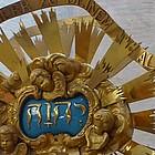Vergoldetes Detail des Altargitters