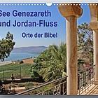 Blick von einer antiken Balustrade auf den See Genezareth