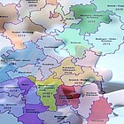 EKHN-Karte mit Dekanaten als Puzzle-Teile