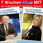 """Portraits von Hans-Joachim Heist alias """"Gernot Hassknecht"""" und Lisa Fitz."""
