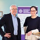 Nadine Bongard und Wilfried Kehr werden künftig zusammen die Fachstelle für Gesellschaftliche Verantwortung im Evangelischen Dekanat Westerwald übernehmen.
