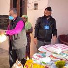 Hilfsmaßnahmen in der indischen Partnerkirche der EKHN mit dem Bischof von Amrtisar Pradeep Kumar Samantaroy