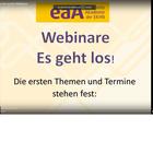 """YouTube Ausschnitt """"Webinare Es geht los!"""""""