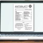 Das Amtsblatt auf dem Bildschirm eines Notebooks