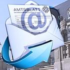 Montage: Icon EMail, EKHN-Mitteilungen, Hintergrund Foto Kirchenverwaltung