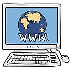 Mit einem Computer kommt man ins Internet