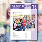 Bildmontage: Gruppe Jugendlicher und Titelblatt Gemeinde leiten 2019/1