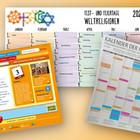 Drei Versionen verschiedener Kalender.