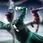 Fußball vor dem Tor